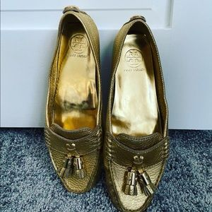 Tory Burch Gold Laurence Loafer